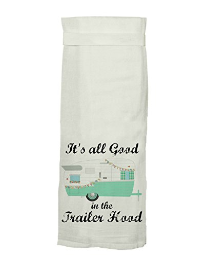 """Twisted Wares """"It's All Good in the Trailer Hood"""" Hang Tight Towel"""