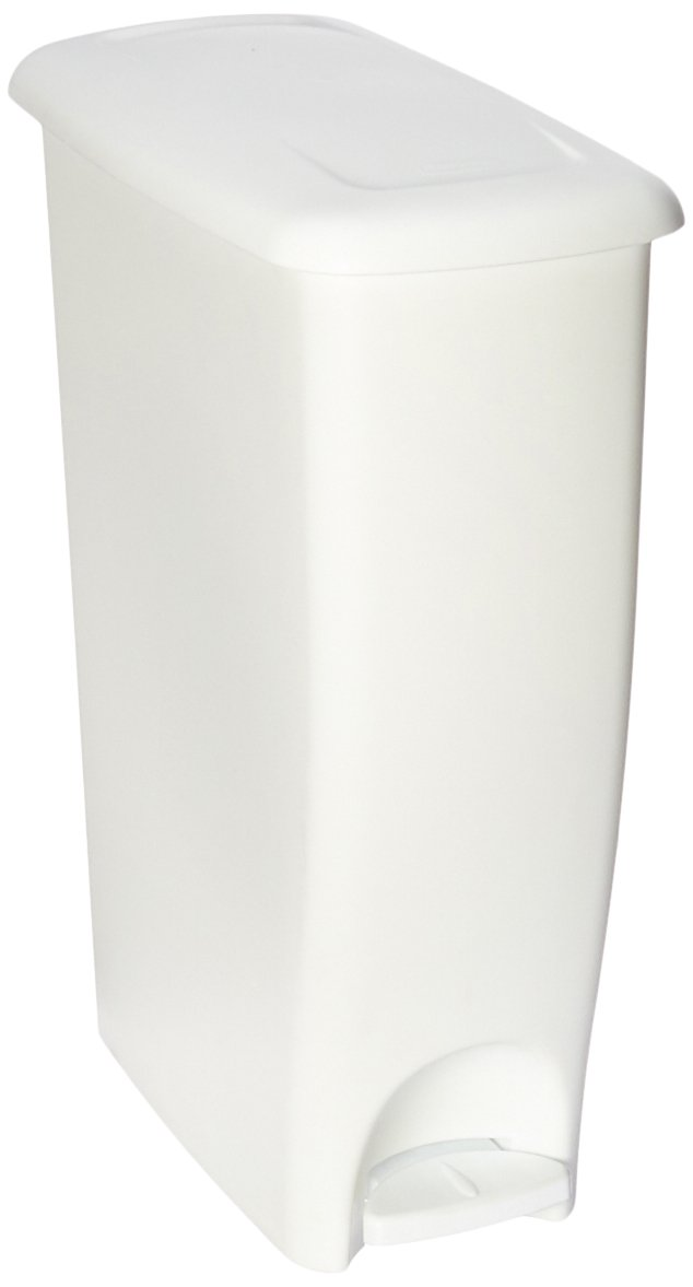 Rubbermaid Dual-Action Wastebasket, 11 1/4-Gallon, White, FG280300WHT Rubel Bike Maps