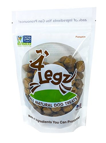 4Legz Organic Pumpkin All Natural Crunchy Non-GMO Dog Treats, 7 Ounce