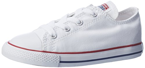 Converse Unisex Chuck Taylor AllStars Ox Skate/Lifestyle, White, 3 M US Little Kid - Boys White Converse
