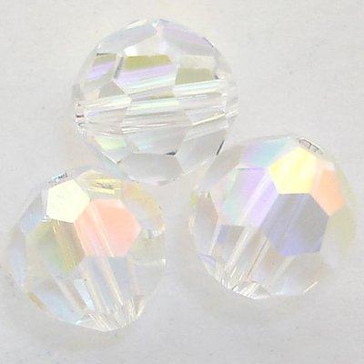 - Swarovski Crystal Round 5000 8mm CRYSTAL AB Beads (8) 545002