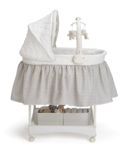 Delta Children Deluxe Gliding Bassinet, Silver Lining  by Delta Children (Image #3)