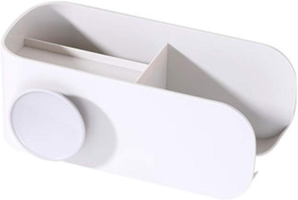 Caja de Almacenamiento secador Pelo montado en la Pared Doble Orificio, Duradero, Resistente al Calor, sin Perforaciones, fácil Usar para peines Tiendas, cosméticos, secadores Cabello