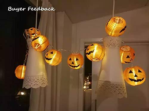 ZMHEGW Set Pumpkin 10 LED String Lights Halloween Decoration Lights Warm White Halloween Home Decoration Accessories