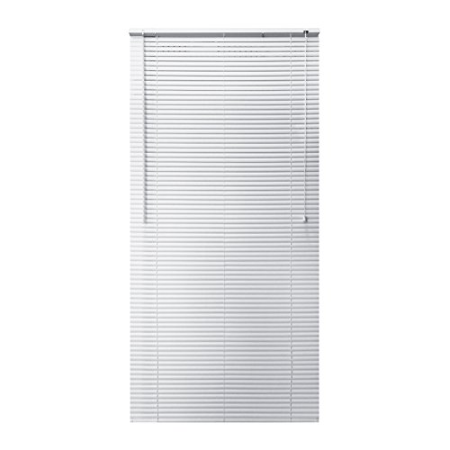 ALEKO BL35X64WH Roll Up Horizontal PVC Blinds 1 Inch Slats Sunshade PVC Curtain Drape 35 x 64 Inches White