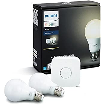 philips hue white a19 60w equivalent dimmable led smart bulb starter kit 2 a19 60w. Black Bedroom Furniture Sets. Home Design Ideas