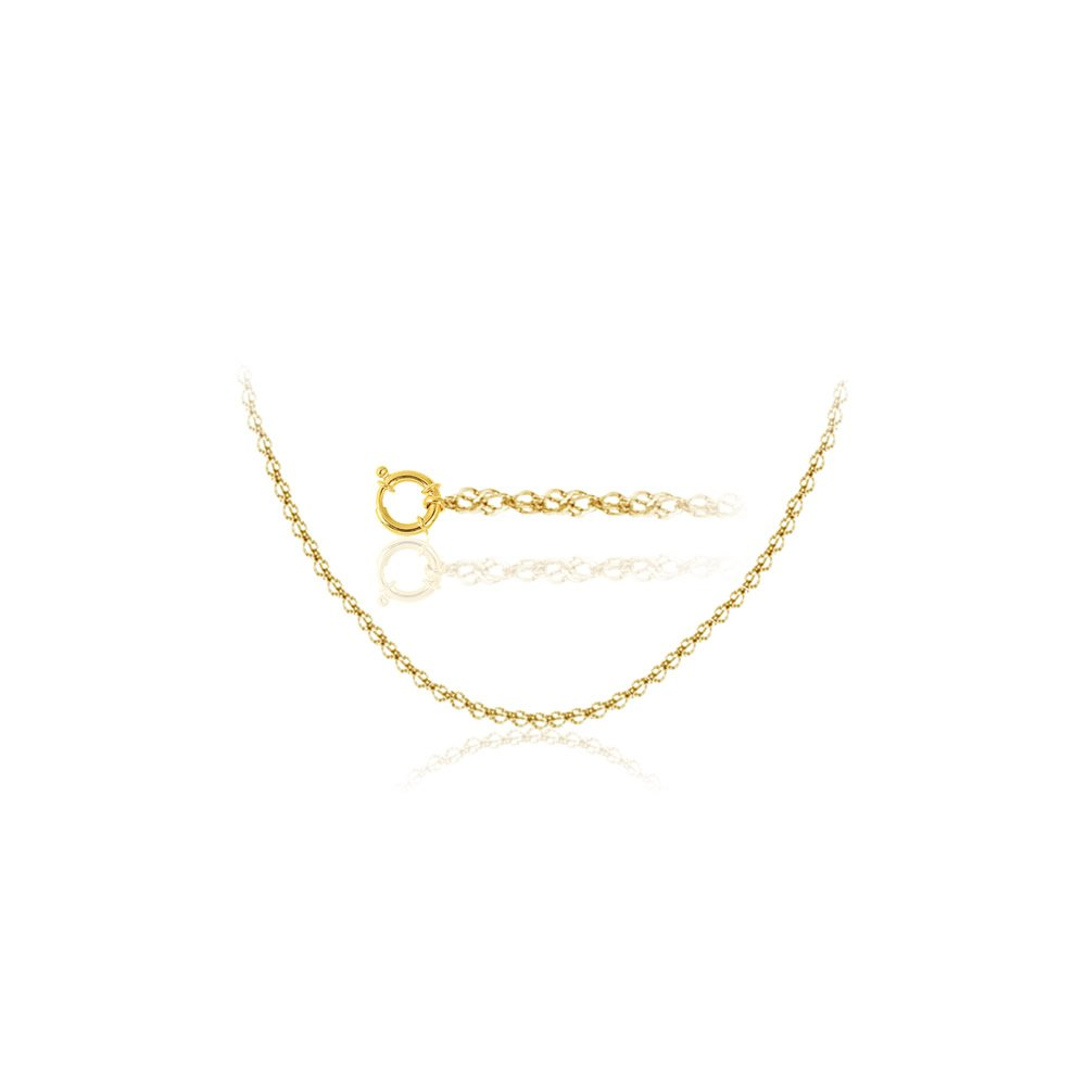 Studs Galore Singapore Chain in 18K Yellow Gold 18 inches
