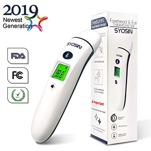 [New Generation]Medical Forehead and Ear Thermometer, 5-in-1 Professional Digital Medical Thermometer, Infrared Fever Thermometer with New Algorithm Best Accuracy,for Infant,Children and Adult