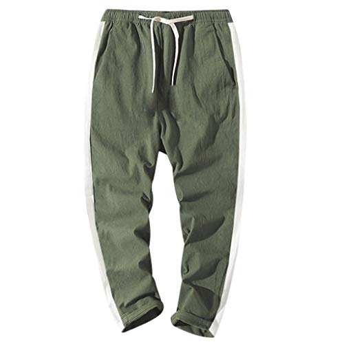 - Men's Drawstring Sweatpants,Clearance -Fashion Casual Loose Solid Plus Size Trousers Pant with Pocket