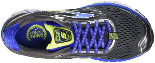 Brooks Men's Ghost 9 Running Shoes Anthracite/Electric Brooks Blue/Lime Punch 12 D(M) US