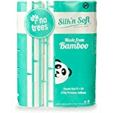 Silk'n Soft Bamboo Toilet Paper - Tree-Free Enviornment Safe Biodegradable Septic-Safe Fragrance Free Strong Dependable Panda Friendly Absorbent Bathroom Tissue 3-Ply - 12pk