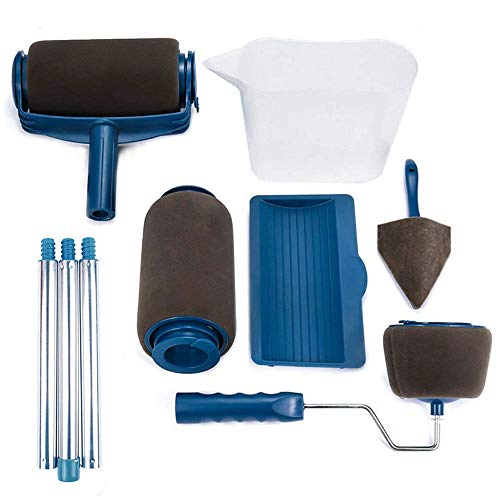 - Paint Roller Kit,KUPOO Pro Edger DIY Brush Handle Room Wall Painting Runner Roller Tool Home Wall Decorative(9 Pcs)