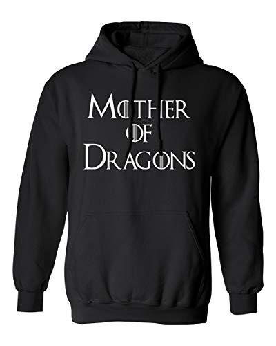 - Memento Mother of Dragons GOT Unisex Pullover Hoodie Sweatshirt (Black, X-Large)