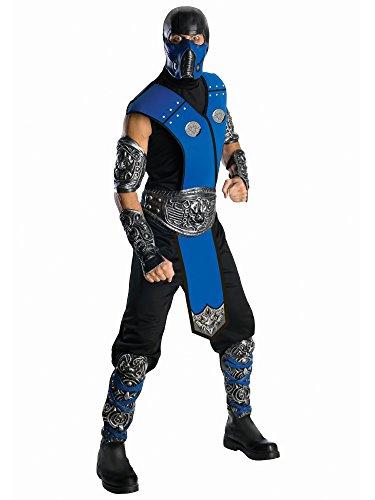 Mortal Kombat Sub Zero Adult Costume, Blue, One Size -