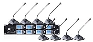 Bolymic 8800S UHF 8-Channel Professional Wireless Lecturn Desktop Conference Microphone System