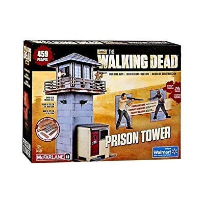 McFarlane Building Set AMC The Walking Dead Prison Tower Walmart Exclusive: Toys & Games