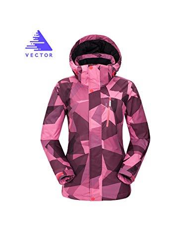 Cappotto Snowboard Outdoor Cute Pioggia Neve Da Soprabiti Invernale Sci Geometry Caldo Antivento Giacca Vector Donne Impermeabile Montagna Pink qa6vqI