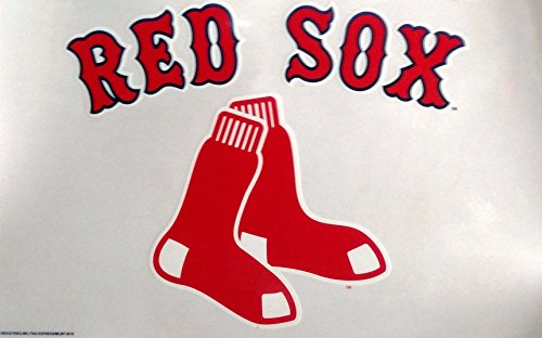(Fremont Die Boston Red Sox Reusable Jumbo Cling Auto Home Window Static Decal Baseball)