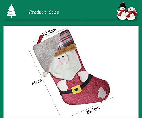AnciTac Christmas Stockings Hanging Set 17'' Large Bags, Bulk Stocking Kit for Xmas Tree or Fireplace Decoration(Type A) by AnciTac (Image #5)