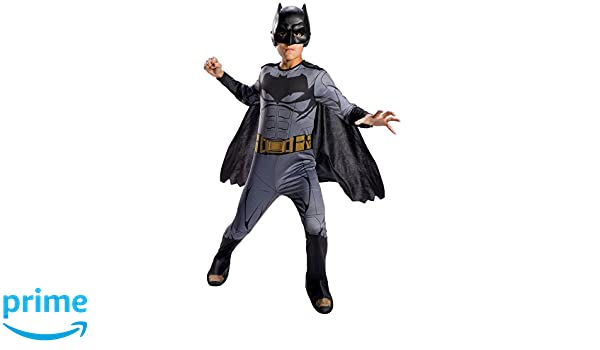 Batman - Disfraz Justice League Movie Classic infantil, S (Rubies Spain 640099-S): Amazon.es: Juguetes y juegos
