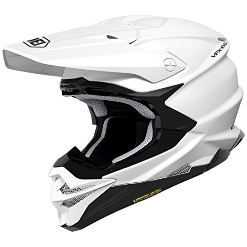 (Orange Cycle Parts Full Face Dirt Bike Off-Road MX Motocross Helmet by Shoei VFX-EVO (Large, White))