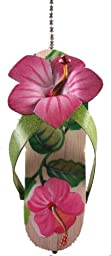Tropical Flip Flop with Pink Hibiscus Ceiling Fan Pull