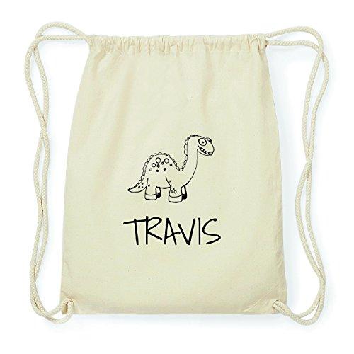 JOllipets TRAVIS Hipster Turnbeutel Tasche Rucksack aus Baumwolle Design: Dinosaurier Dino
