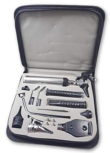 (ZetaLife Diagnostic Set - Ear, Nose and Throat Exam Kit - Great for Medical Students! (Leather Case))