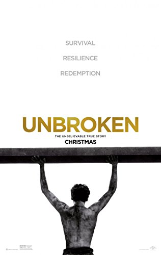 UNBROKEN MOVIE POSTER 2 Sided ORIGINAL 27x40 JACK O'CONNELL