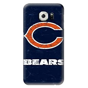 S6 Case, NFL - Chicago Bears Distressed - Samsung Galaxy S6 Case - High Quality PC Case