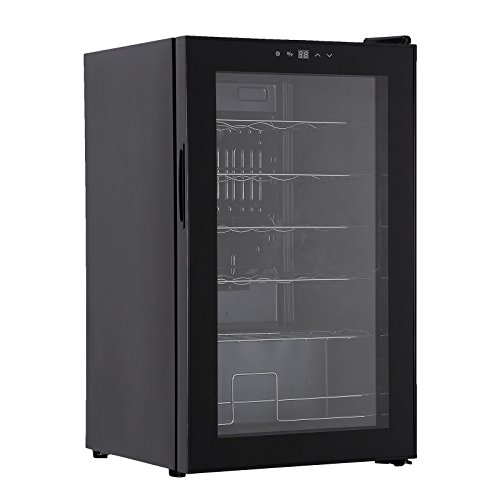 Freestanding Compress Fridge Cabin Thermoelectric Wine Cooler for 28 Bottles