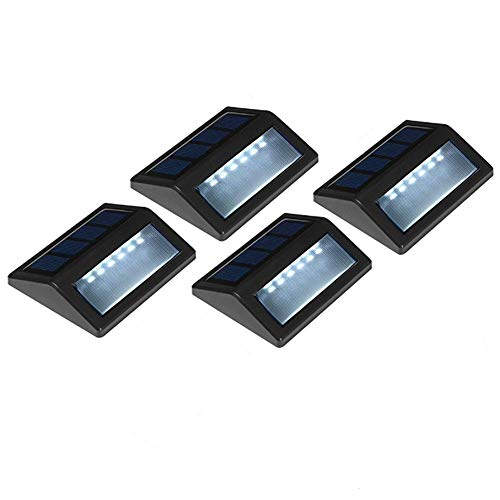 Solar Powered Wall Light ,4 Pack Solar 6 LED Light Wall Mount Garden Path Lamp Step Lights