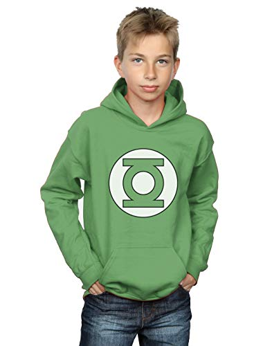 DC Comics Boys Green Lantern Logo Hoodie 7-8 Years Irish Green (Lantern Jacket Green)