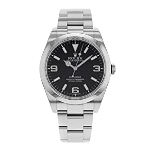 41GWuV6YTaL. SS300  - Rolex Explorer Black Dial Stainless Steel Rolex Oyster Automatic Mens Watch 214270BKASO