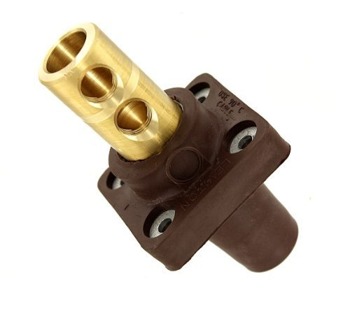 Leviton 16R22-H 16-Series Taper Nose, 90-Degree, Female Panel Receptacle, Cam-Type Connector, Brown (Old Model) 16 Series Cam Receptacle
