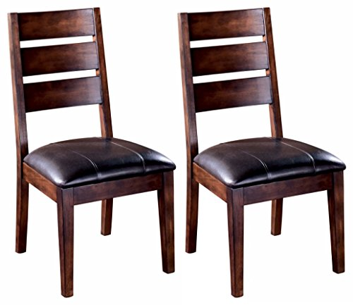 Ashley Furniture Signature Design - Larchmont Dining Room Chair - Set of 2 - Burnished Dark (Ladder Back Chair Set)