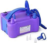 MESHA Electric Balloon Pump Air Pump Inflator Portable Dual Nozzle Pink Air Balloon Pump Filler Inflator/Blowe