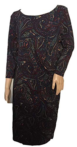 Talbots Bella Paisley Side-Drape Dress Size ()