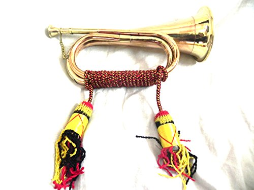 US BRITISH ARMY BUGLE TRUMPET WITH ROPE by IM