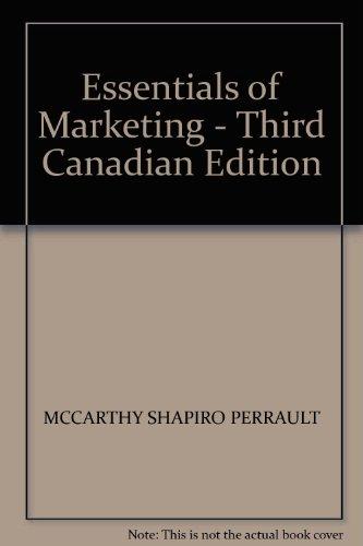 Essentials of Marketing - Third Canadian Edition
