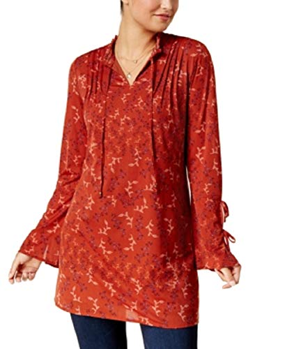 (Style & Co. Printed Peasant Tunic (Fine Day, M))