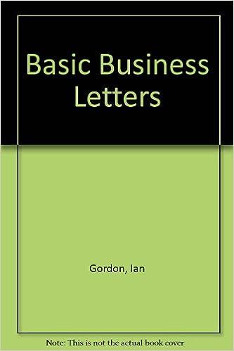 amazon com basic business letters 9780435283582 ian gordon books