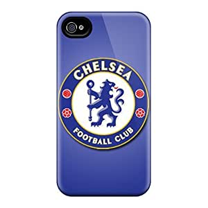 Hard Protect Phone Cases For Iphone 4/4s (KSq19987HjGN) Provide Private Custom Nice Chelsea Fc Pattern