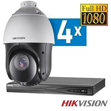 Hikvision Vigilancia IP Juego 4 PTZ cámaras