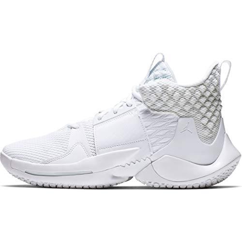 Nike Jordan Why Not Zer0.2 Mens Sneakers AO6219-101, White/Metallic Gold/White, Size US 11.5