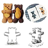 Teddy Bear Shape Cookie Cutter Animal Biscuit for Kitchen 100 Bear Shape Bag