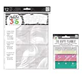 me & My Big Ideas Create 365 Medium/Classic Page Protector and Snap in Tabs, Fun Brights (Set of 2)