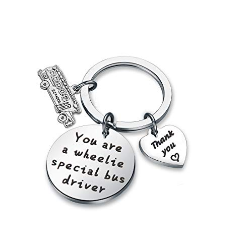(Zuo Bao School Bus Driver Gift You are A Wheelie Special Bus Special Bus Driver Keychain Gifts for Lovers Thank You Gift for Drivers (Schlool Bus-Keychain))