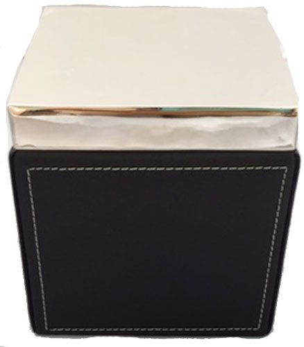 Manorisms Black Leather Polish Silver Box