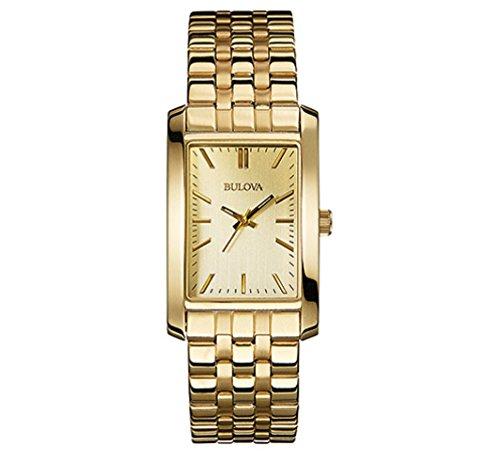 (Bulova Women's 97L144XG Quartz Yellow Gold Dial Gold-Tone Bracelet 25mm Watch (Renewed))